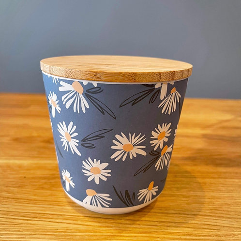 Daisy Design Bamboo storage jar - small