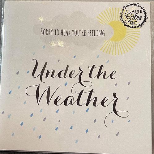 Under The Weather - Get Well Card
