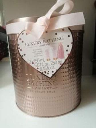 Luxury Bathing Co Rose Gold Tin Set