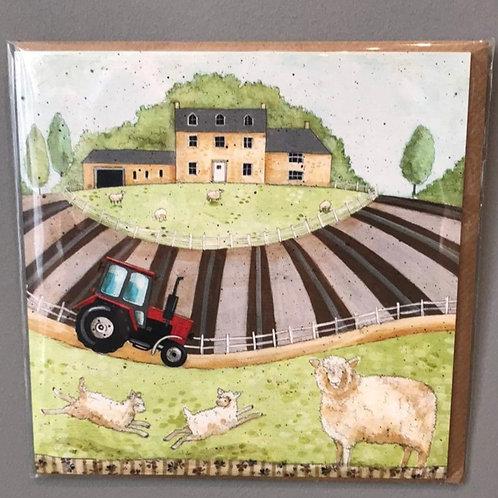 Farm Scenery Card