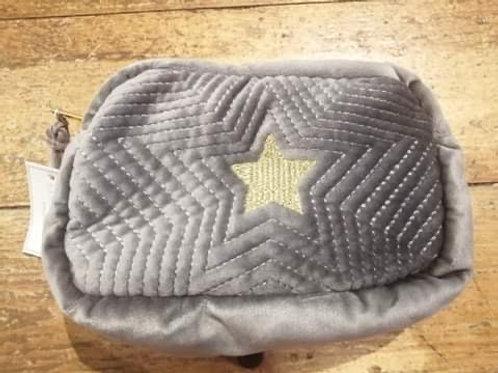 Grey Star Make Up Bag