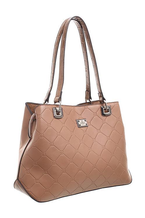 Bessie London Logo Print Shoulder Bag