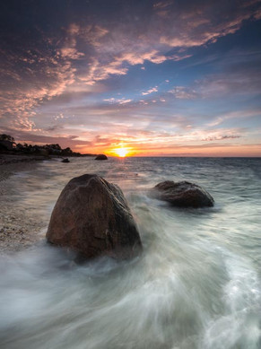 Two Boulders with Wave