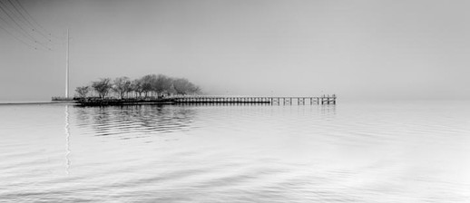 Fishing Pier in Fog