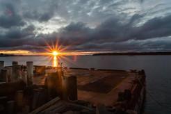 Barge at Sunrise