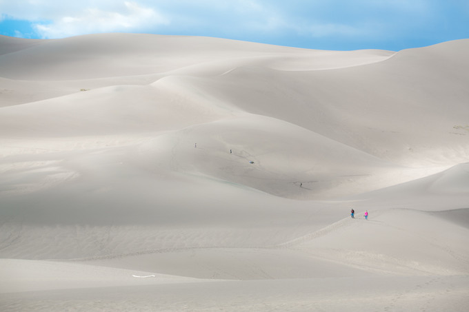 Hikers on Dunes
