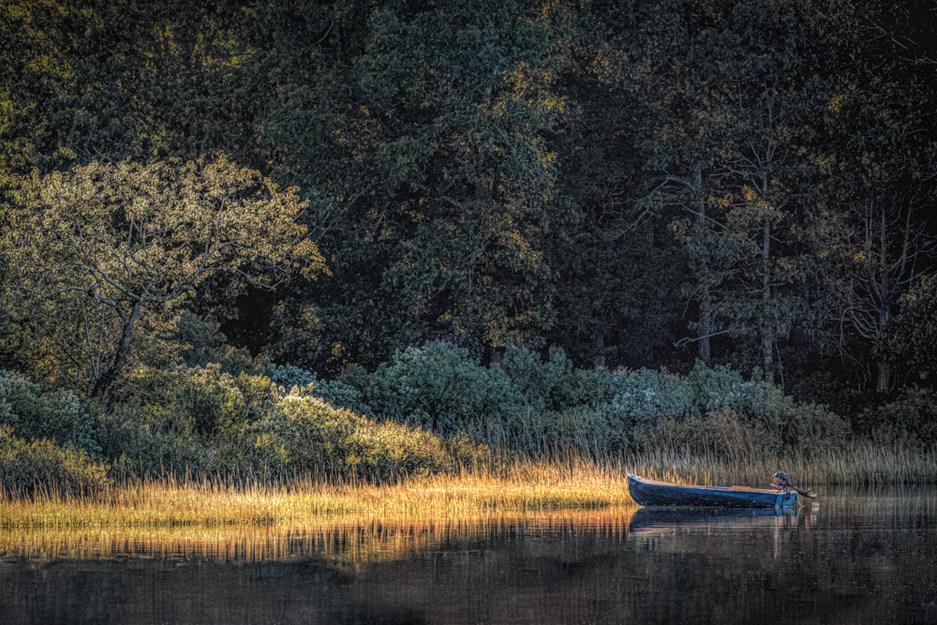Boat on Dam Pond