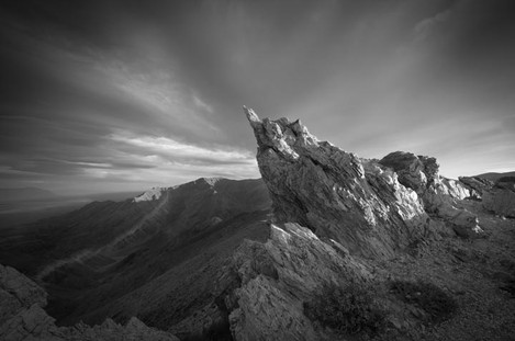 Pointed Rock With Clouds
