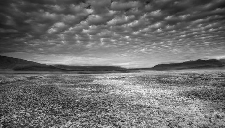 Death Valley with Small Clouds