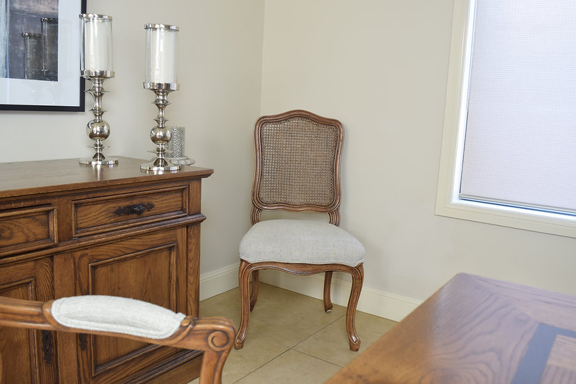 Louis XV Regency cane back chair