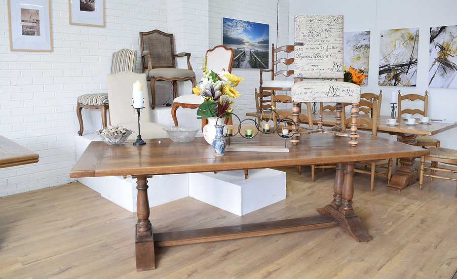 Contemporary Twin Pedestal Refectory table