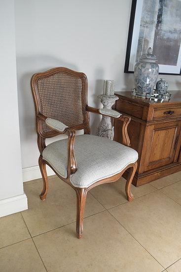 Louis XV Regency cane back Carver chair