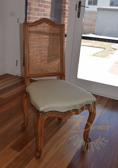 Orlando dining chair with  caned back