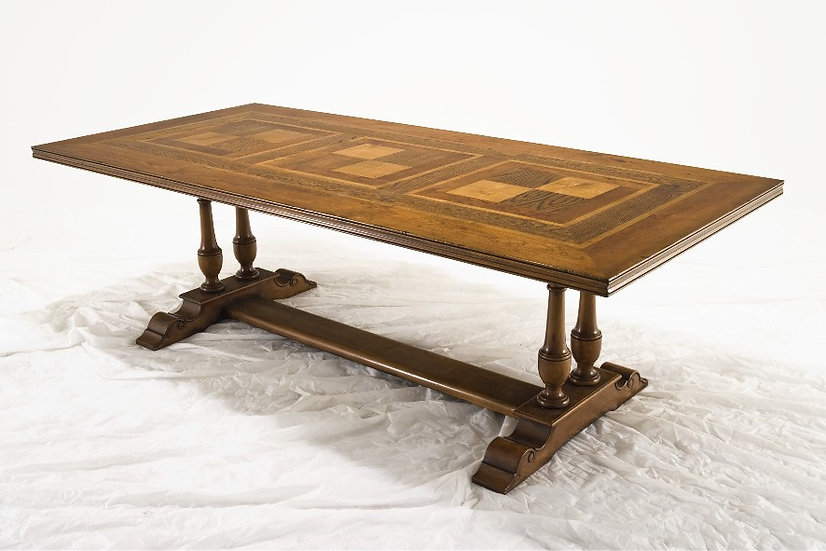 Twin Pedestal French parquetry table