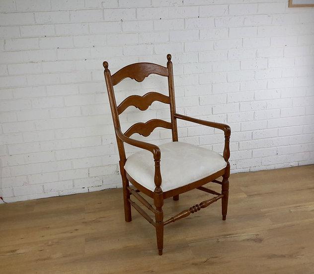 French Boulengerie ladder back carver