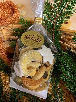 Weihnachtskekse gemischt (Säckchen)