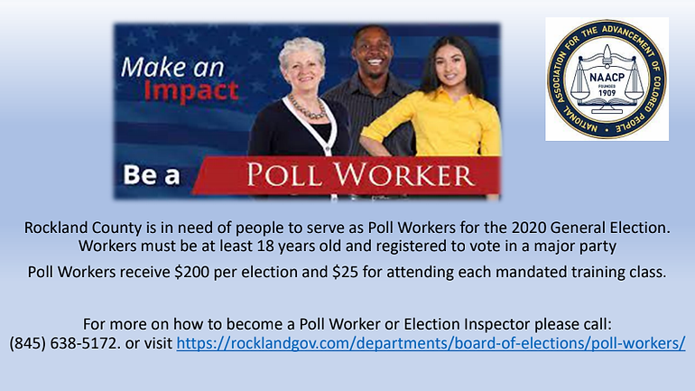 Become a Poll Worker 2020