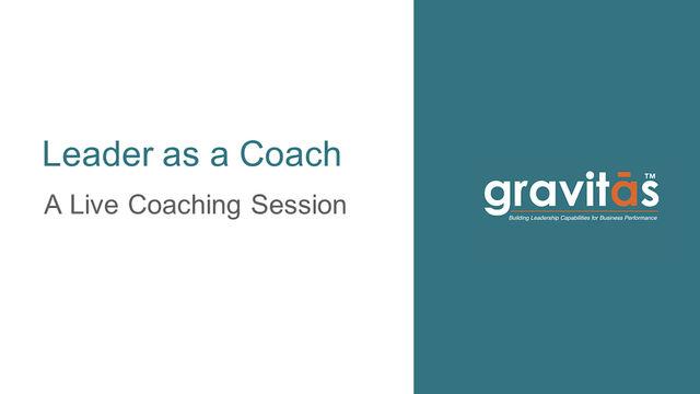Leader as a Coach
