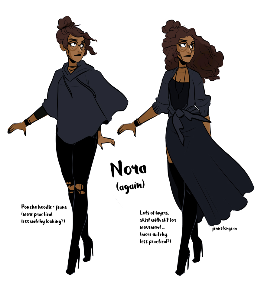 "character designs, ""Nora"""