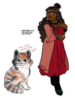 "character designs, ""Finding Molly: An Adventure in Catsitting"""