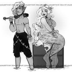 """character designs, """"Kullen & Ofelia"""""""