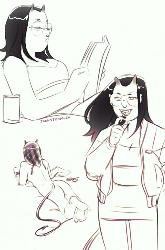 "character concepts, ""Demon Girlfriend"""