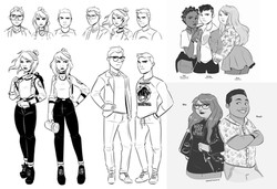 "character designs, ""Nancy Drew & the Palace of Wisdom"""