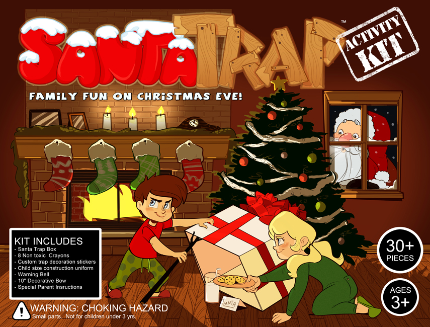 """Santa Trap"" package design"