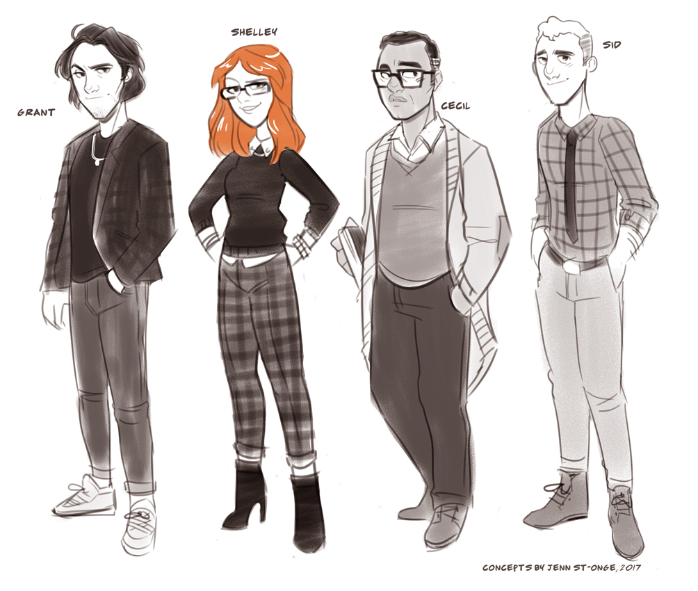 """character design, """"Giant Days: Holiday Special"""""""