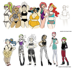 "character designs, ""The Misfits"""