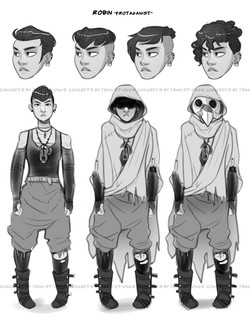 "character designs, ""Robin"""