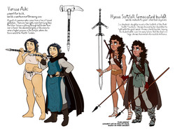"character designs, ""Fire Keepers"""