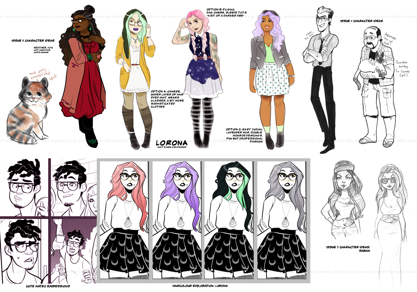 Character design work (issue #3-5)