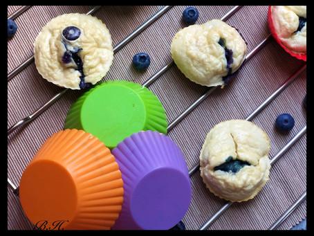 Borůvkovo-kokosové muffiny