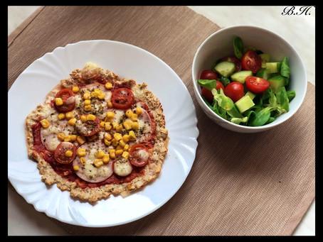 Fitness (skoro) pizza z ovesných vloček