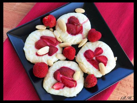 Boží fit kokosové koláčky s jahodami