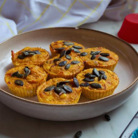 Slané muffiny s dýní a kukuřicí