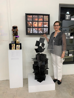 """""""Homage to Louise Nevelson"""" & """"Facets of Childhood"""" & Handmade Jewelry  Carol Erenrich"""