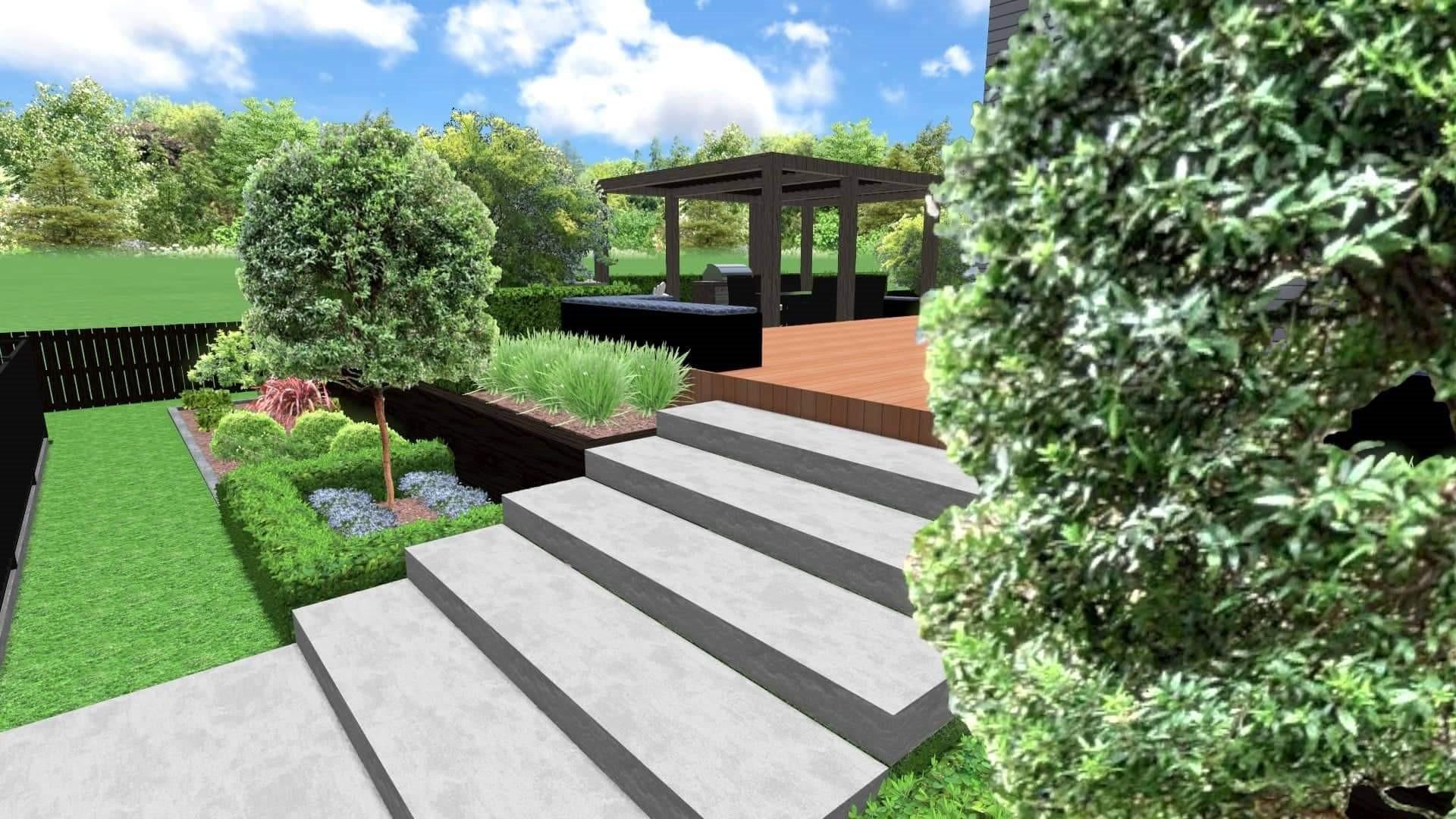Athenree landscape 3D design