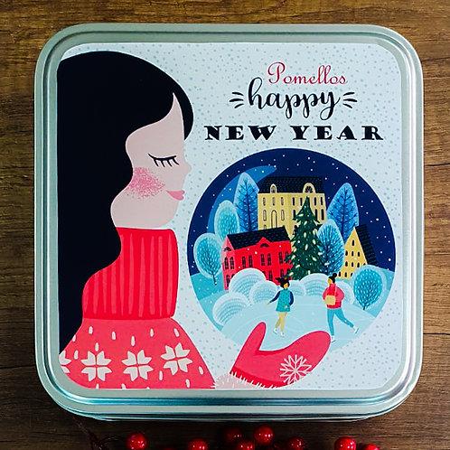 Pomellos Kolonya Keukenhof Bahçeleri  Yeni Yıl Paketi  (Özel Metal Kutu içinde)