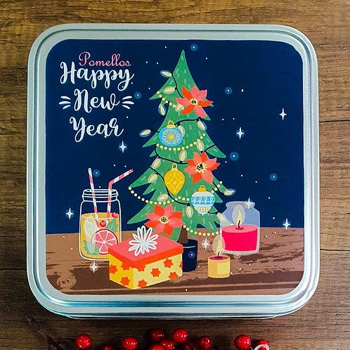 Pomellos Kolonya Frozen North Water  Yeni Yıl Paketi  (Özel Metal Kutu içinde)