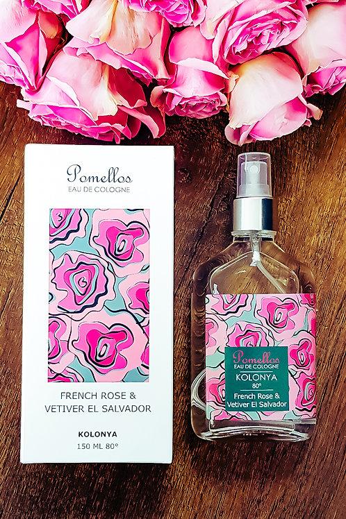 French Rose & Vetiver El Salvador - (150ml Cam Şişe 80 Derece Spreyli Kolonya)