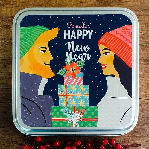 Pomellos Kolonya Keep in Touch Yeni Yıl Paketi (Özel Metal Kutu içinde)