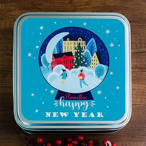 Pomellos Kolonya Lime Mexico Yeni Yıl Paketi (Özel Metal Kutu içinde)