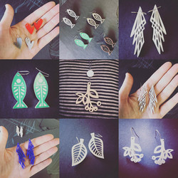 Assorted earing designs