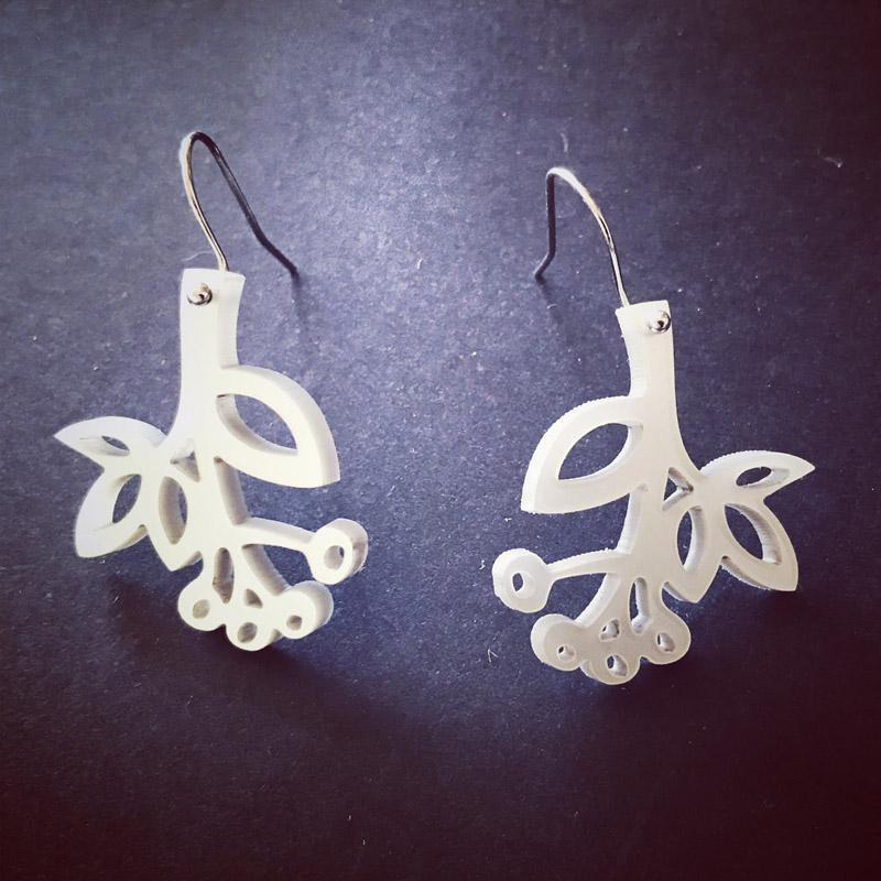 Wattyl earings (silver perspex)