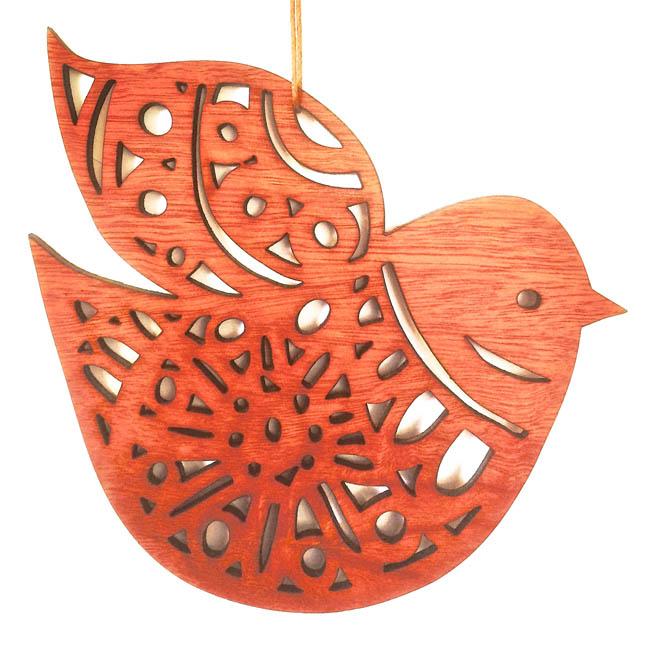 Nordic Bird woodcut (jarrah)