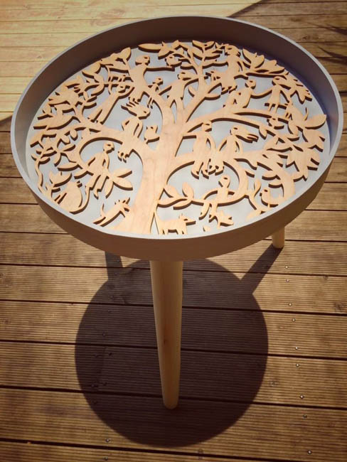 Mandala Family Tree side table
