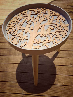 Mandala Family Tree side table