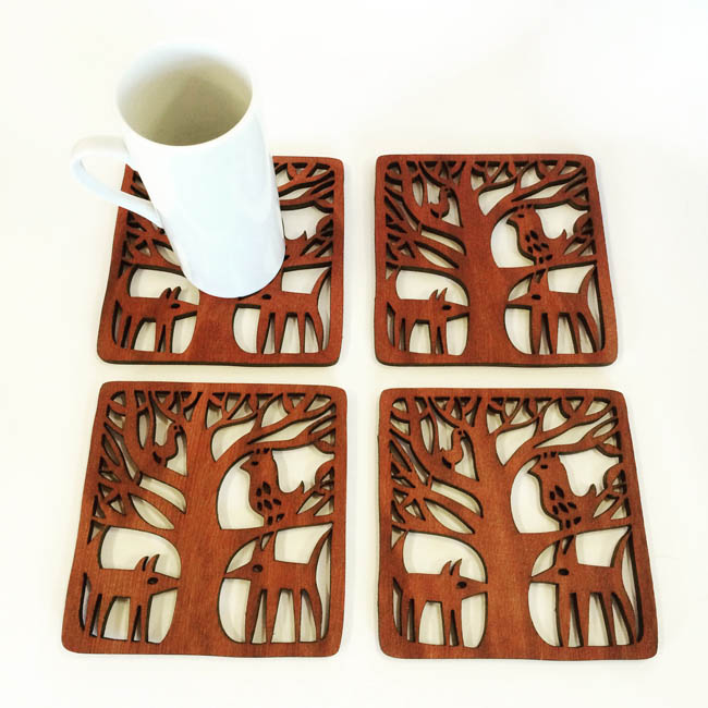 Midnight Animals coasters (jarrah)